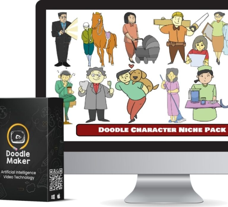 1460+ Doodle Character Assets Niche Packs