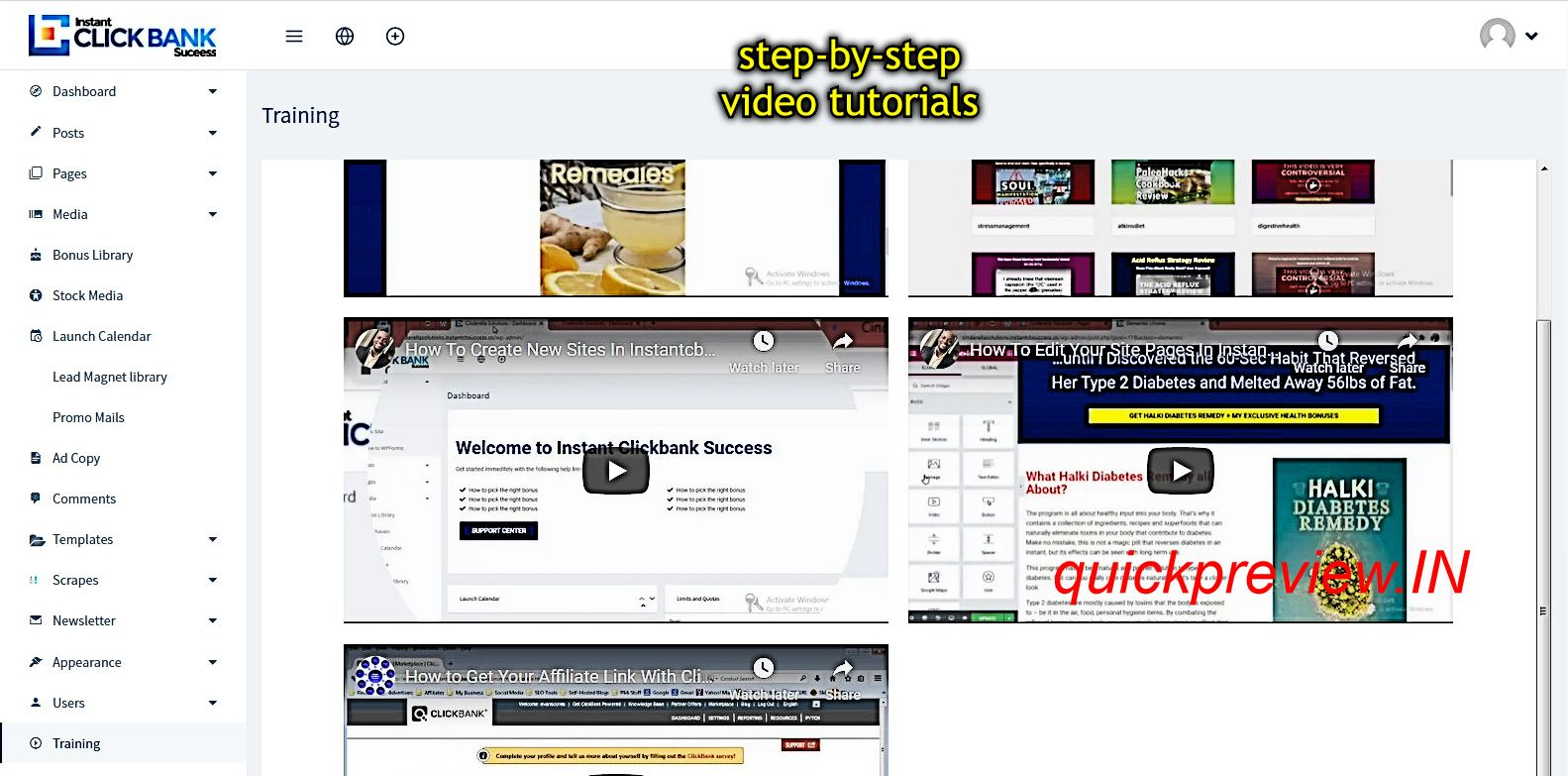 instant clickbank success inside 3