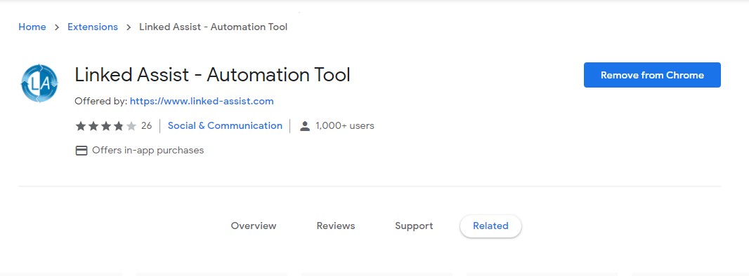 linked assist chrome extension