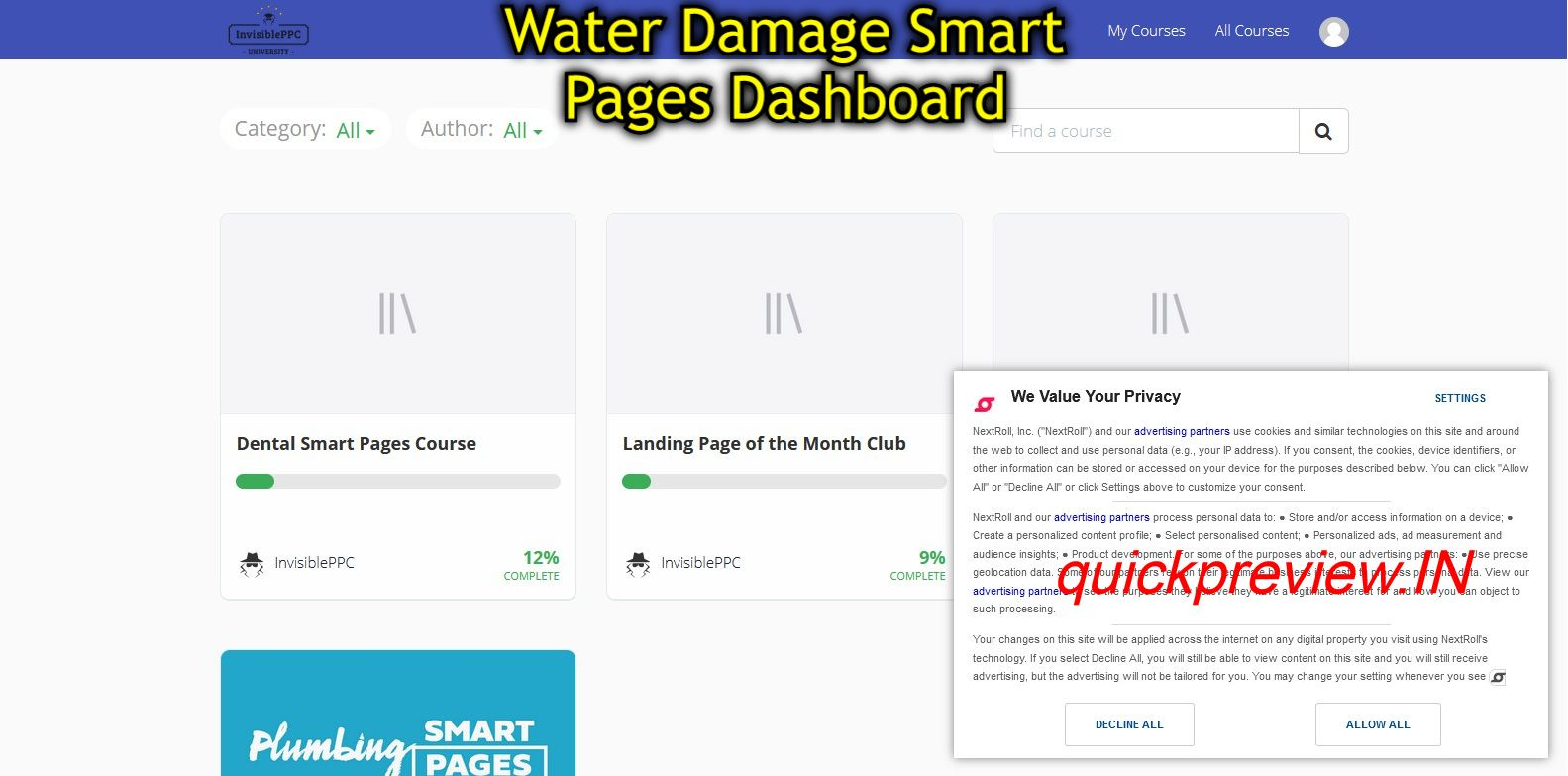 water damage smart pages inside view