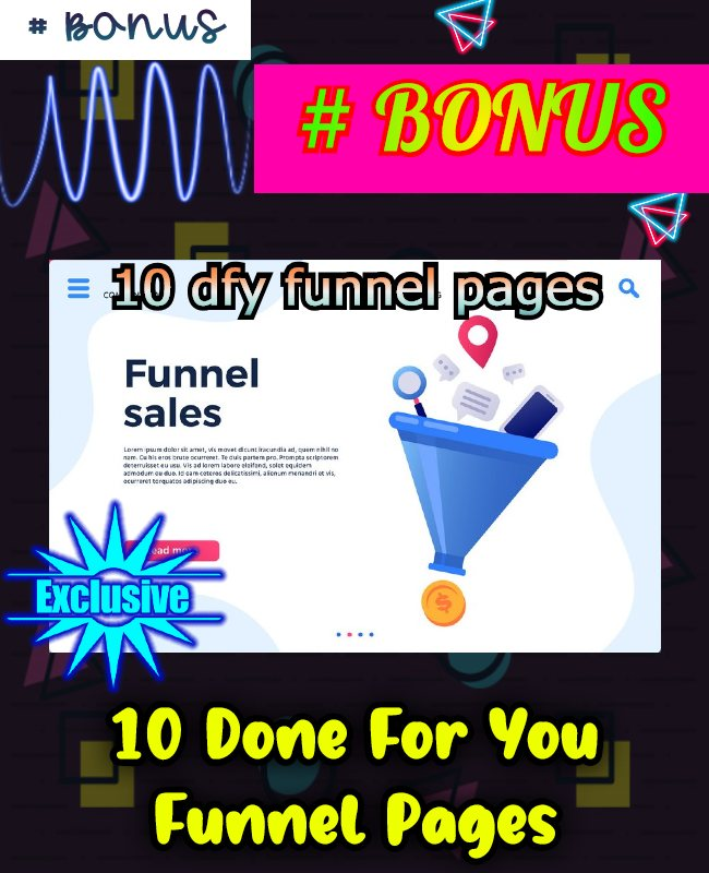 10 dfy funnel page