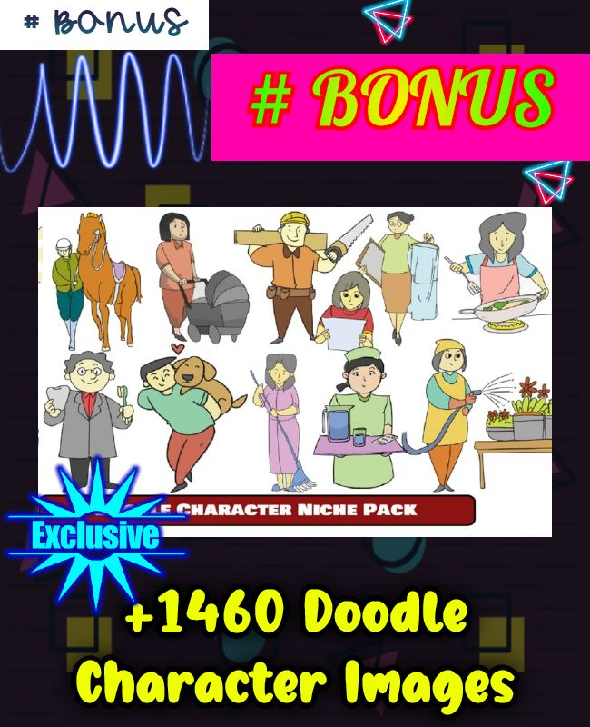 doodle character pack