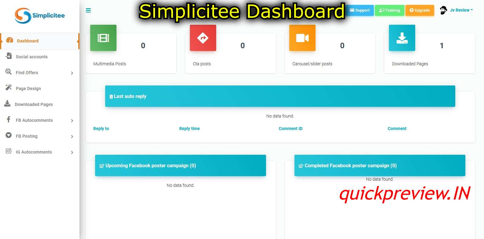 simplicitee dashboard