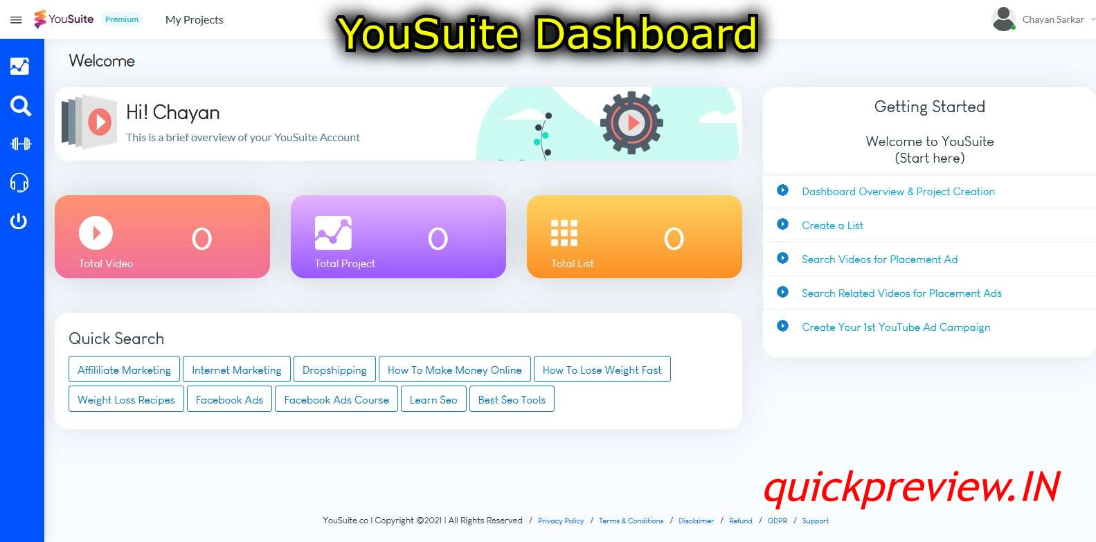 YouSuite Dashboard