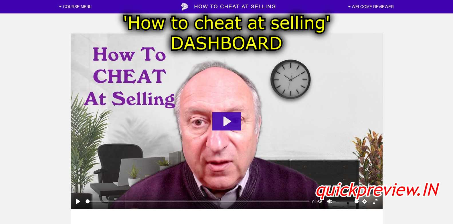how to cheat at selling dashboard