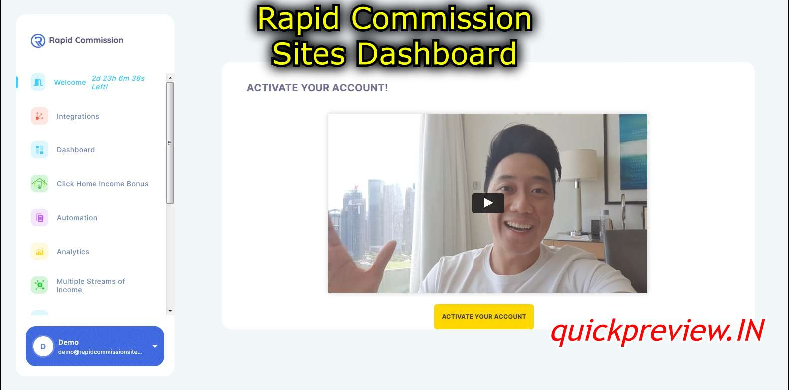 rapid commission sites dashboard